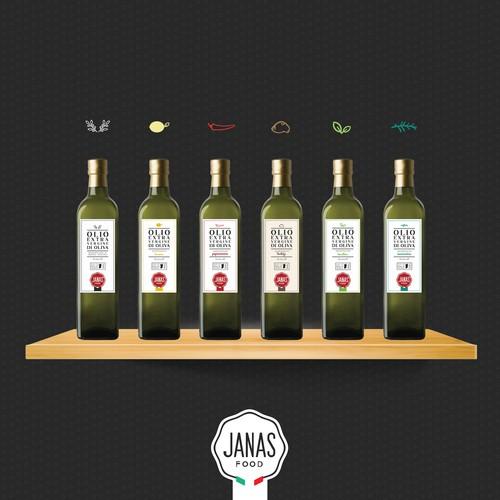 Etichetta per Olio Janas