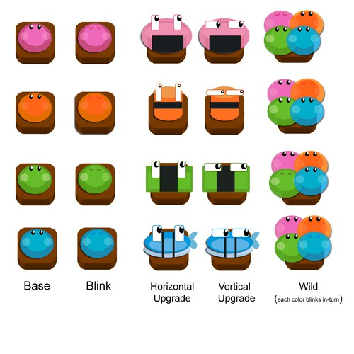 Make happy sushi for a video game
