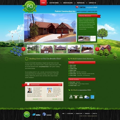 Website design for Patrick Contruction Inc.