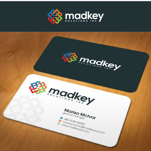 Design for Madkey Solutions, a business consulting services company
