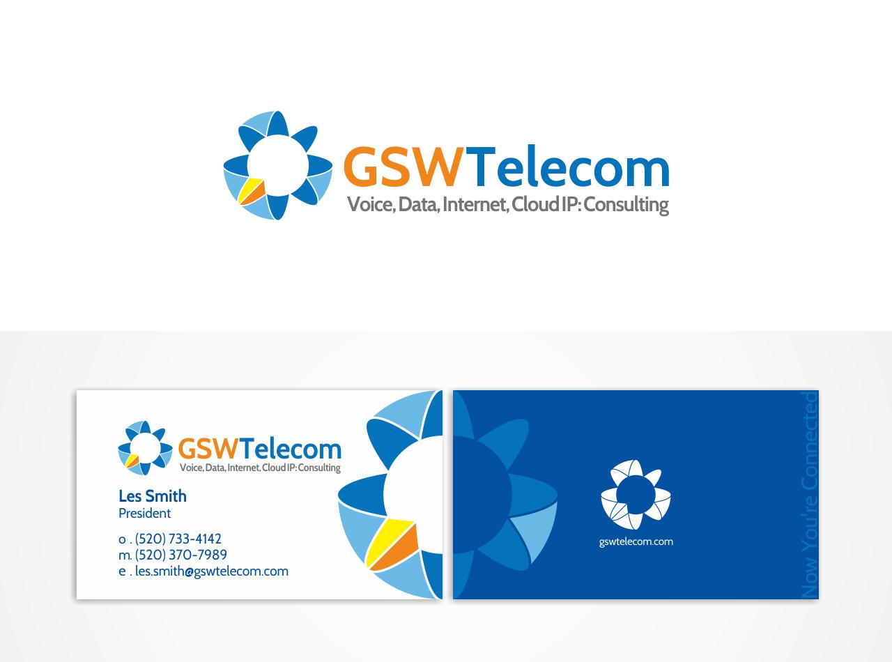 logo and business card for GSW Telecom