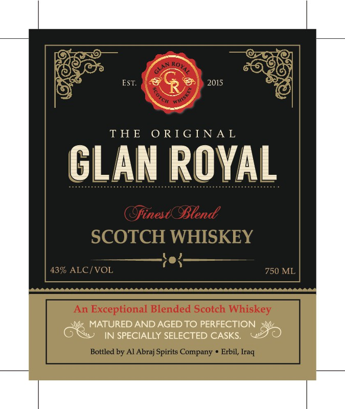 Design an elegant and unique label for a new whiskey brand