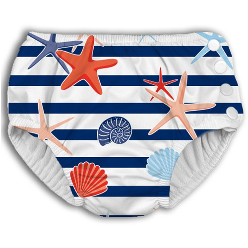Shells Pattern for Baby Swim Diaper