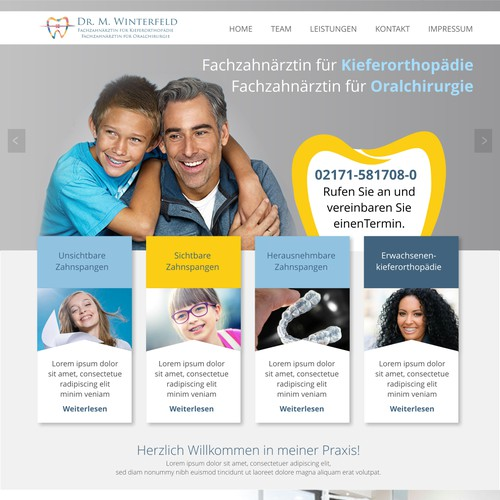 Dental service website design