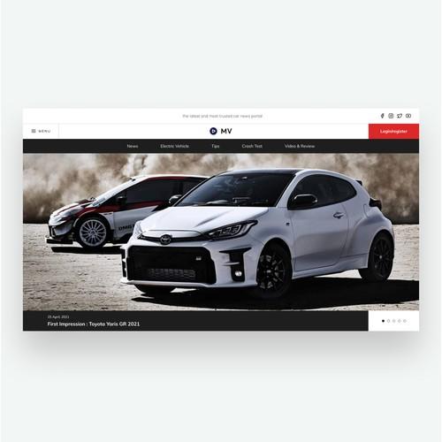 Landing Page - Car Blog