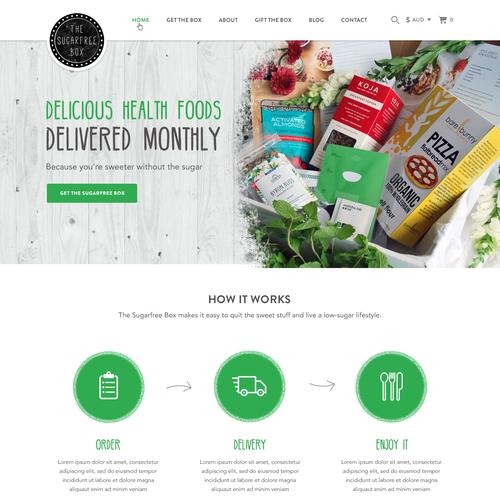 Help The Sugar Free Box Create A New Home Page