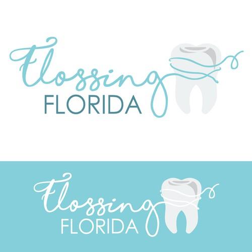 "Logo design for the dental program ""Flossing Florida"""