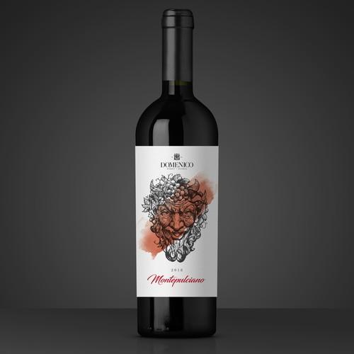 Domenico - Montepulciano - Wine Label