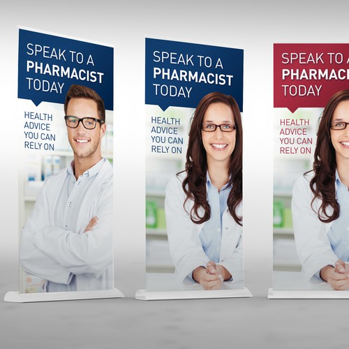 Retractable banner: Consumer medicine