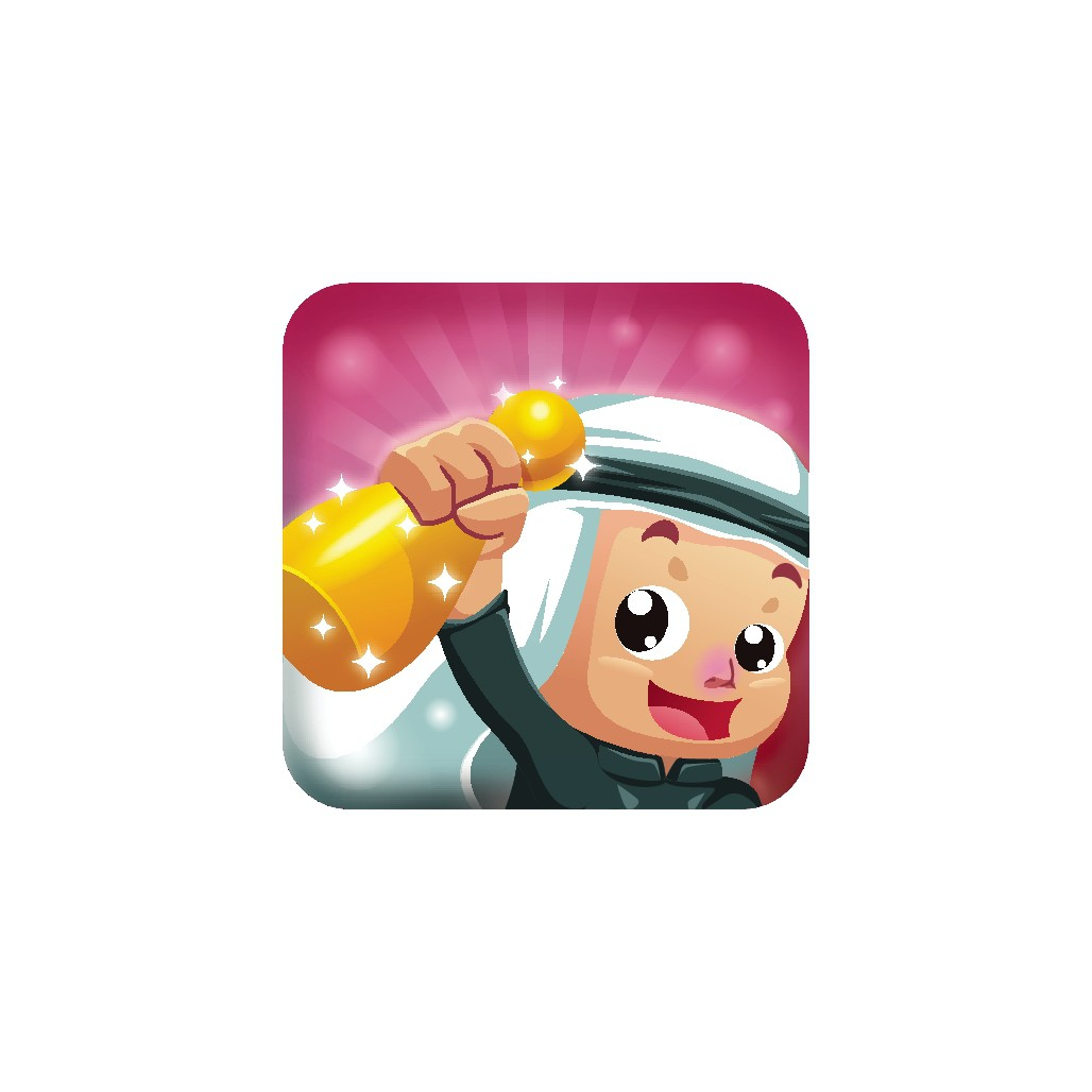 Design a icon for a iOS game based on Ludo game