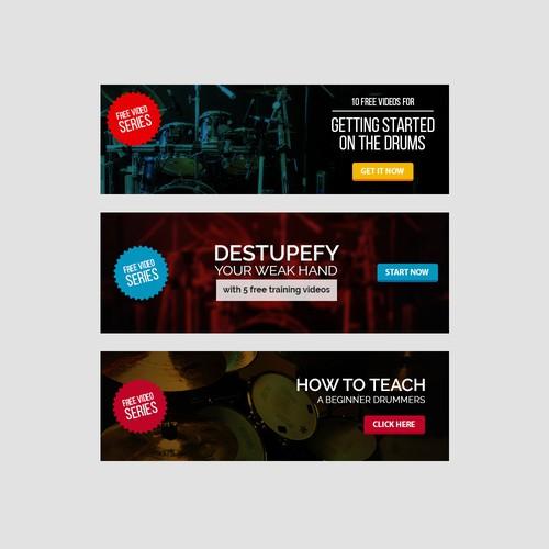 Drum Online Lesson Ads Banner