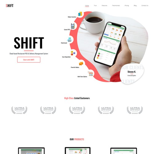 Landing Page for POS