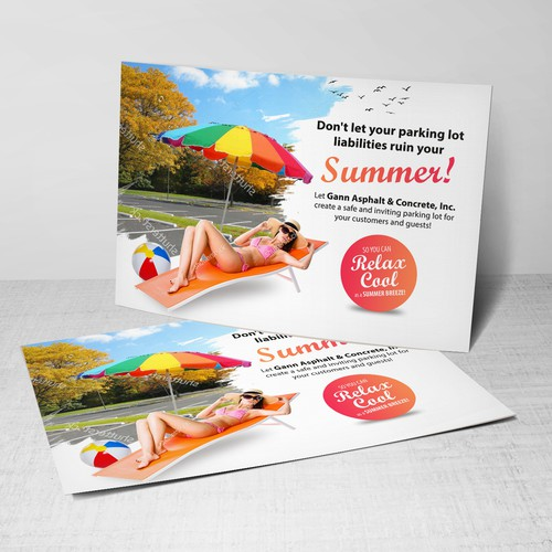 Summer Postcard Design