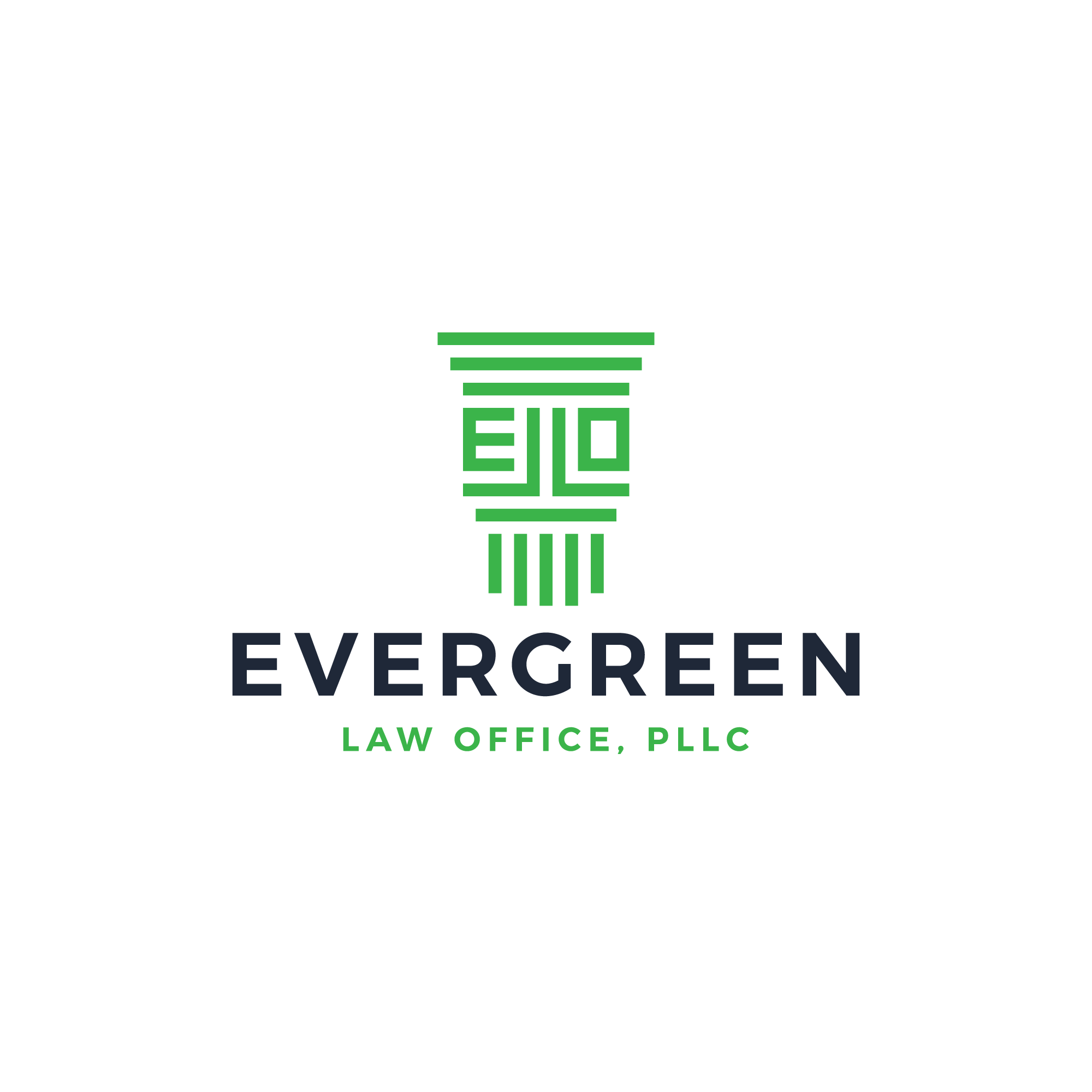 Create a logo for a progressive and energetic law office wanting to avoid drab and dull