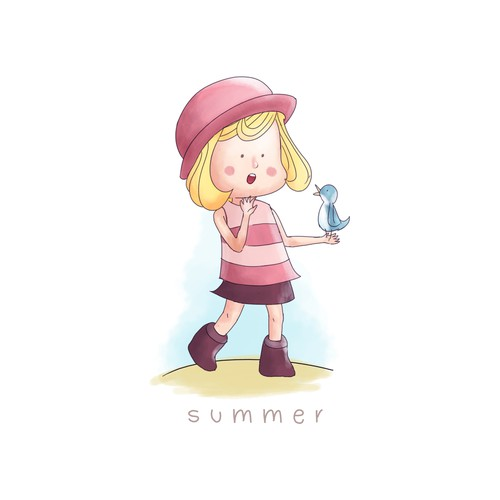 Character design for summer
