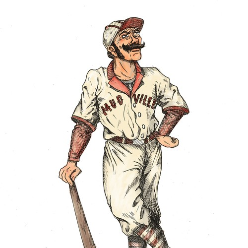 "Illustration for the Poem ""Casey at the Bat"""