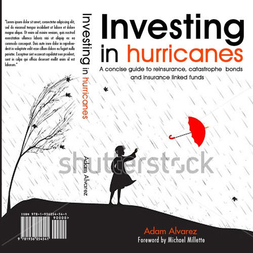 Creative cover for a book about investing in funds related to catastrophe risk.