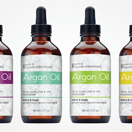 create a top selling moroccan argan oil label