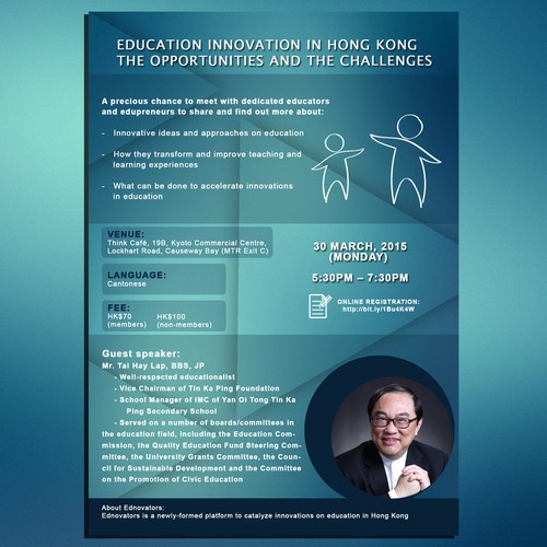 Designing a 1-page flyer for a sharing and networking event about innovations in education