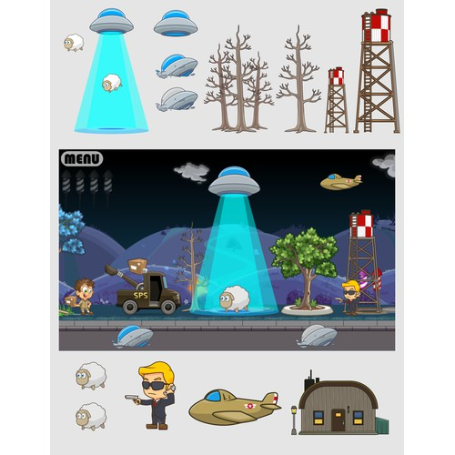 Items for mobile game with alien twist!