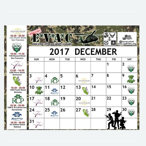 Design December calendar with a military theme!