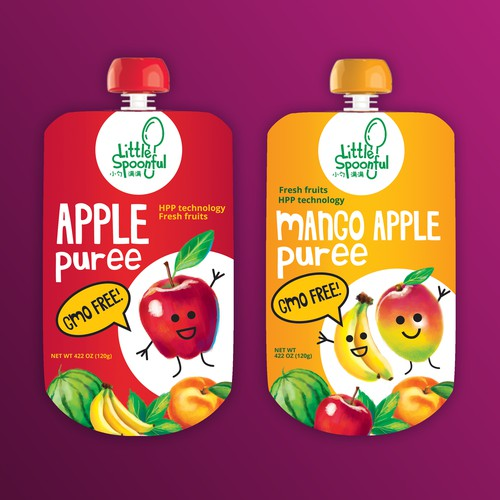 Packaging design  for fruits puree