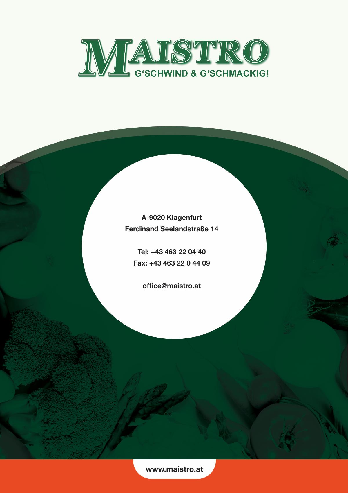 MAISTRO Brochure update
