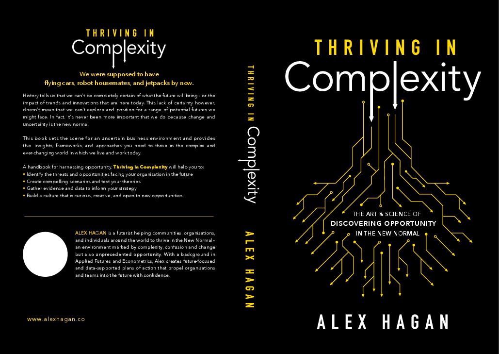"""Modern conceptual book cover needed for """"Thriving in Complexity"""""""