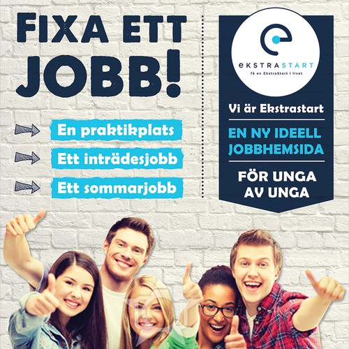 Flyer for a Scandinavian Youth Startup