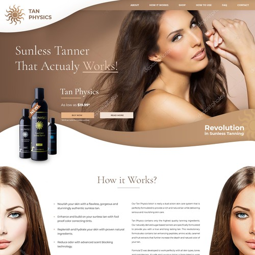Website design for cosmetic product