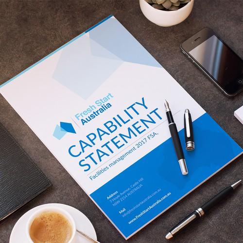 Capability statement for Fresh Start Australia