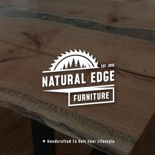 Natural Edge Furniture Logo Design