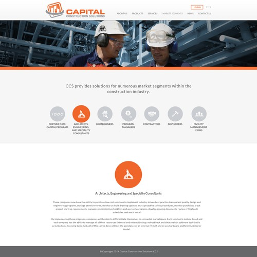 Start-up, Mobile Based Construction Company's Website
