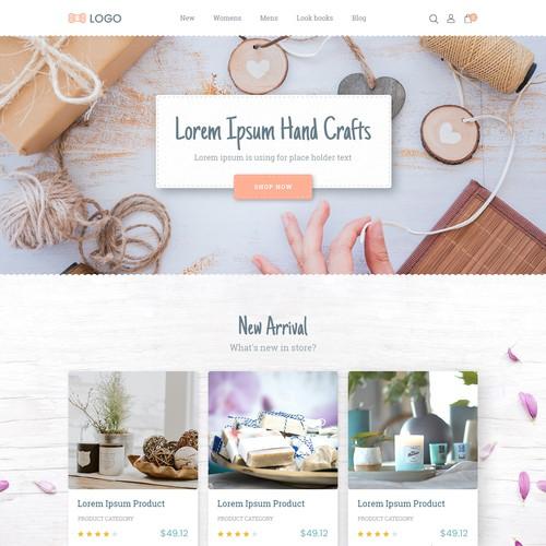 Website design for a Hand craft company.
