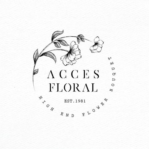 Logo for flower distribution