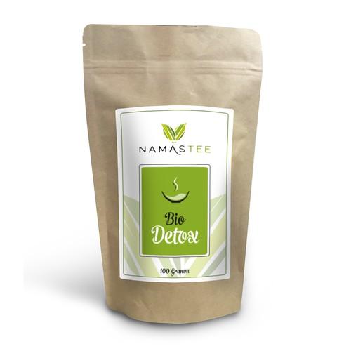 Etikett für Teemischung