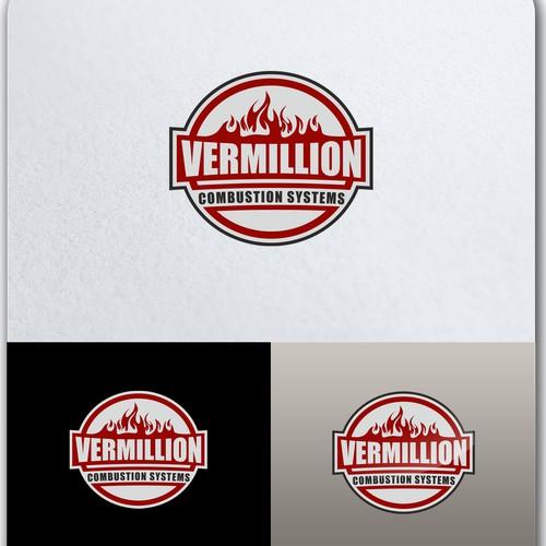 Emblem logo concept for combustion systems