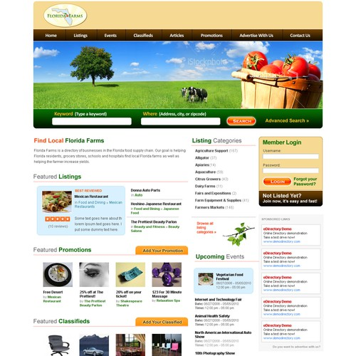 Web Design for Farming/Agricultrual Directory