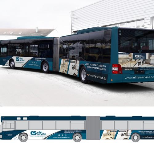 Bus advertising - Kitchen studio