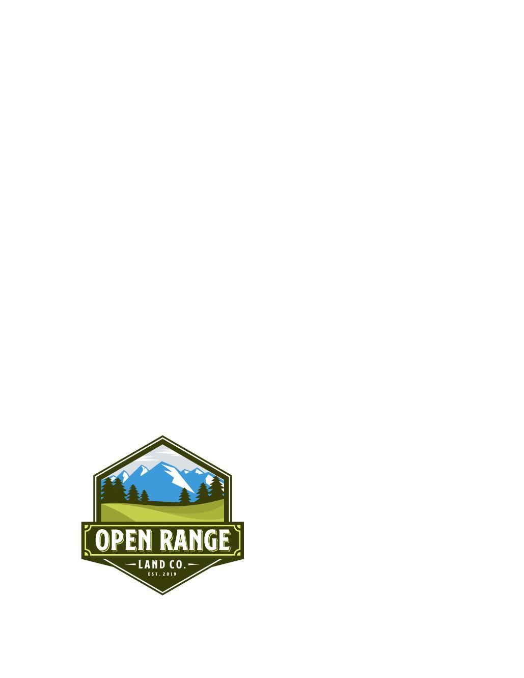 Open Range Land Co. logo design
