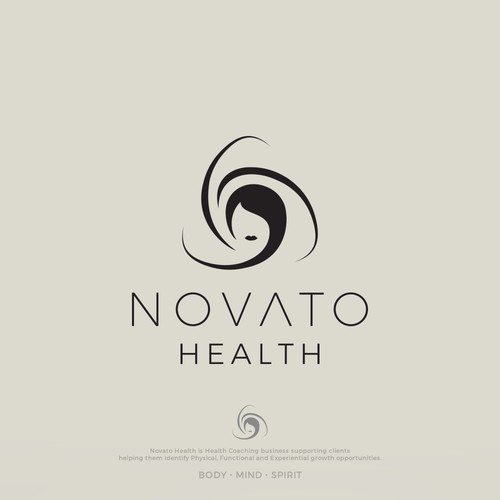Elegant logo for health couching