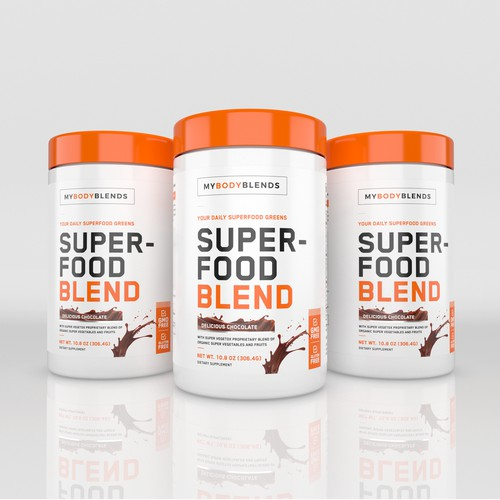 Label design for Superfood Blend supplement