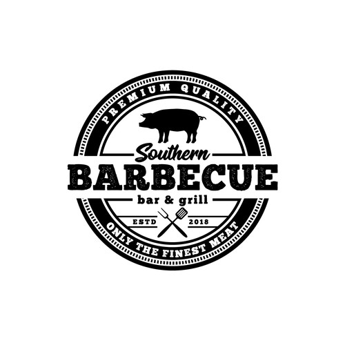 Barbecue bar and grill logo design