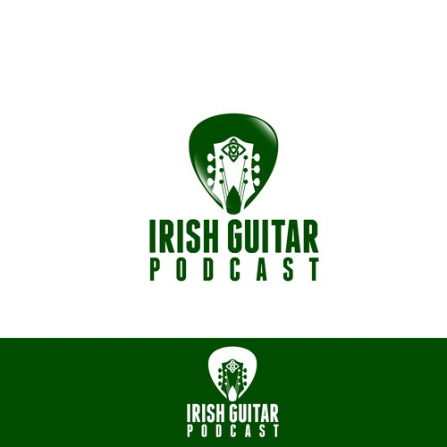 "Create a Celtic logo to communicate ""Irish Guitar Podcast"""