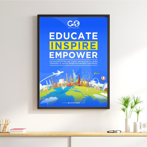 Poster Design for Travel Company Mission Statement