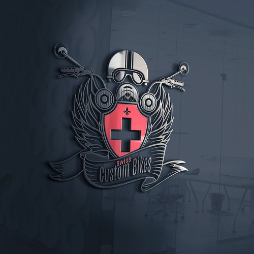Logo concept for Custom Bikers