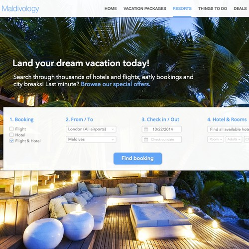 Create a High Level Resorts Travel Landing Page - Engage with Creativity