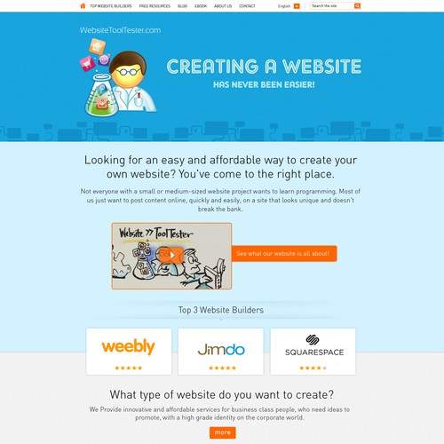 Website tool tester website home page