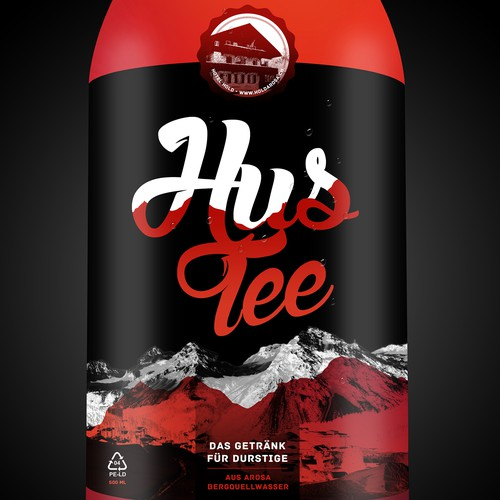 HUSTEE Tea Bottle Label