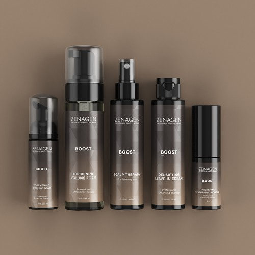 3D renders of a cosmetic product line